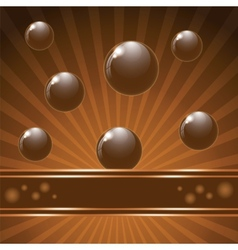 Cover chocolate sweets box background vector