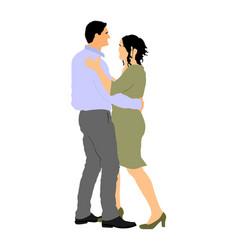 dancer couple in love sensual tango wedding dance vector image