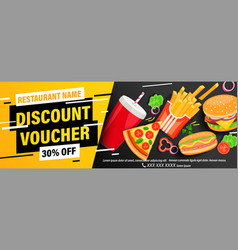 dynamic discount voucher with 30 percent price off vector image