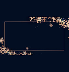 elegant christmas and shining gold snowflakes vector image