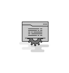 Folder setting web icon flat line filled gray icon vector