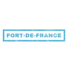 Fort-De-France Rubber Stamp vector