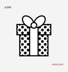 gift box with a bow or present icon isolated vector image