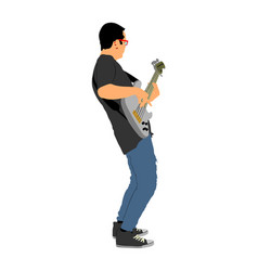guitarist player popular music super star on stage vector image