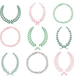 Hand Drawn Laurel Wreaths Collections vector