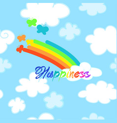 happiness seamless pattern vector image