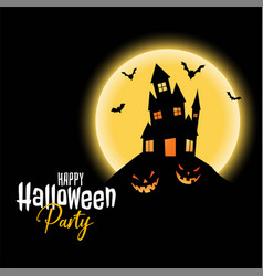 happy halloween party scary haunted house vector image
