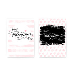 happy valentines day set collection modern vector image