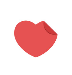 heart shape red sticker vector image