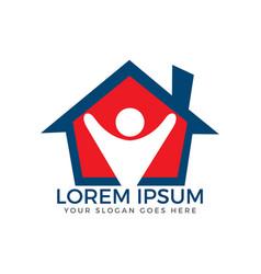 Home medical logo design vector