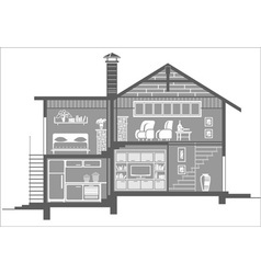 house5 vector image