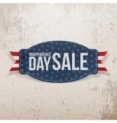 Independence Day Sale greeting Emblem vector image