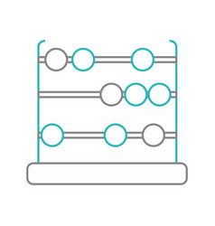 Isolated abacus design vector