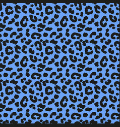 Leopard skin seamless pattern african animals vector