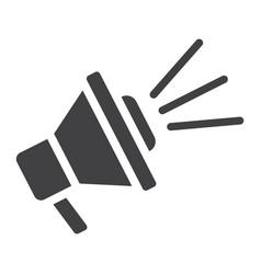 loudspeaker solid icon megaphone and website vector image