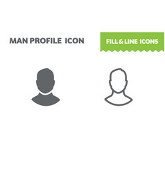 male profile icon vector image