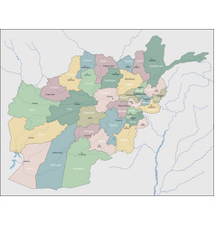 Map afghanistan vector