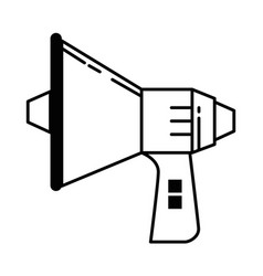 megaphone audio isolated icon vector image