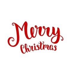 Merry chistmas lettering vector