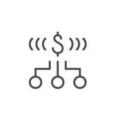Money allocation line outline icon vector