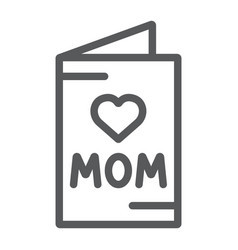 mothers day card line icon greeting and vector image