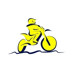 Motocross icon vector image