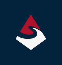 mountain s logo vector image