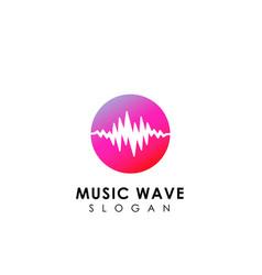 music wave logo design sound wave icon symbol vector image