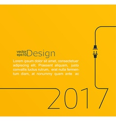 New year 2017 plug and socket vector