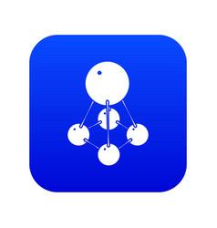 Nitromethane icon blue vector