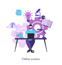 online course concept online course concept vector image