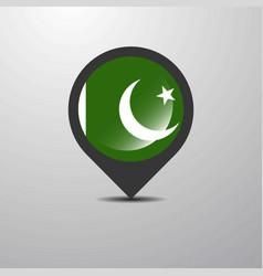 Pakistan map pin vector