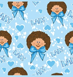 Pattern for a boy on a blue background vector