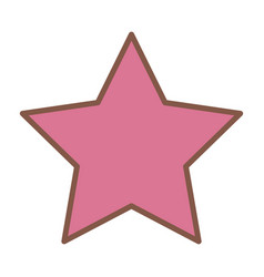 pink star funny comic cartoon decoration icon vector image vector image