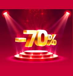 podium action with percentage vector image