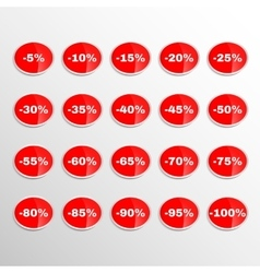 Realistic Stickers Discount vector image