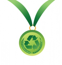 recycling winner vector image