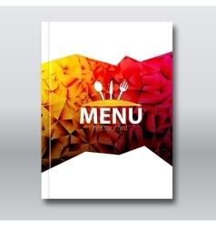 restaurant menu card brochure template modern vector image