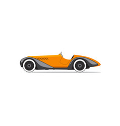 retro car isolated side view vector image