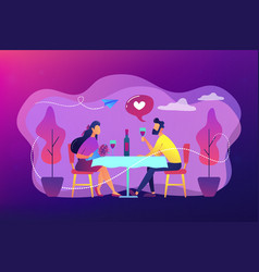 romantic date concept vector image