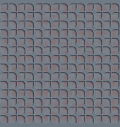 seamless abstract geometric pattern 3d gray tile vector image