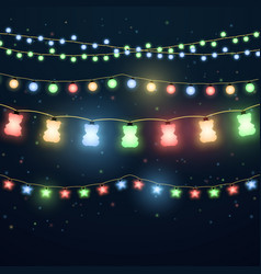 Set of colorful light garlands vector