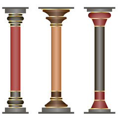 set of columns in historic minoan style vector image