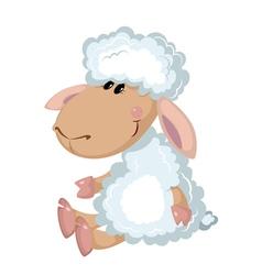 Sheep sits vector
