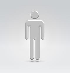 Silver male person icon vector
