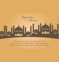 Simple greeting card ramadan kareem vector