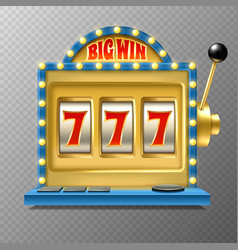 slot machine casino jackpot one lever armed vector image