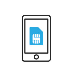 Smartphone icon mobile simcard vector