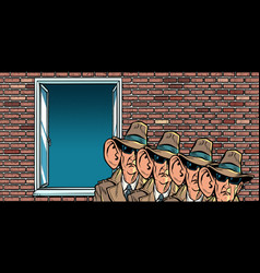 spy secret service state eavesdropping on vector image