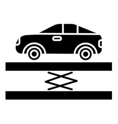 Suspension - car service icon vector
